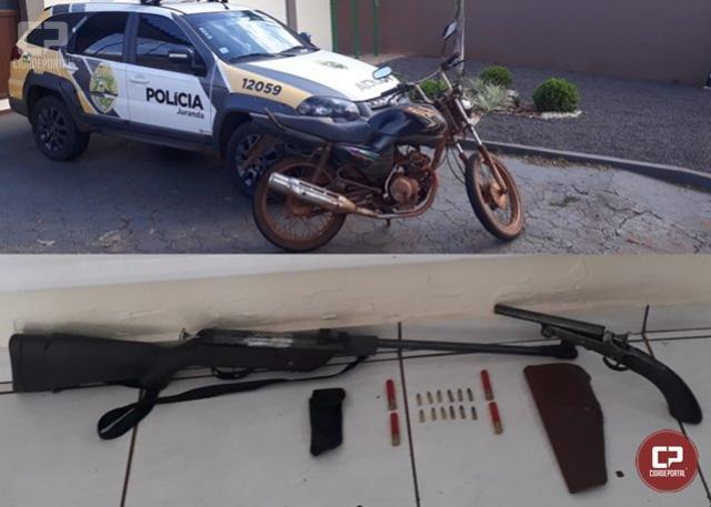 Polícia Militar de Juranda prende duas pessoas por posse ilegal de arma de fogo