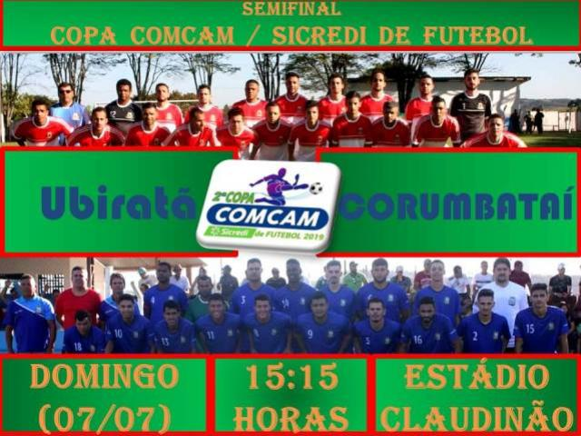 Ubiratã enfrenta Corumbataí do Sul na semifinal da Copa Comcam/Sicredi