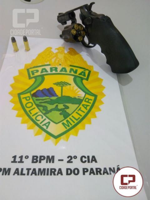 Uma pessoa foi presa em Altamira do Paraná por porte ilegal de arma de fogo e munições