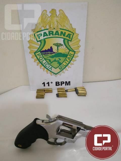 Polícia Militar prende pessoa por posse irregular de arma de fogo em Mamborê