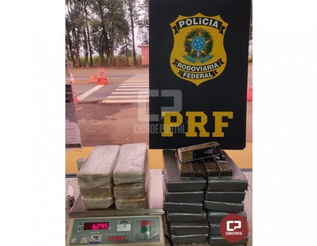 PRF apreende cocaína, crack e munições em Ubiratã