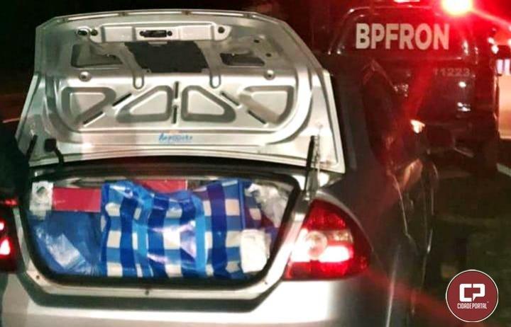 Veículo carregado com produtos contrabandeados foi apreendido pelo BPFRON na BR-369 em Juranda