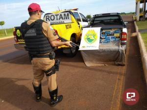 Equipe Rotam da 3ª Cia/BPRv apreende veículo carregado com cigarros em Santa Helena