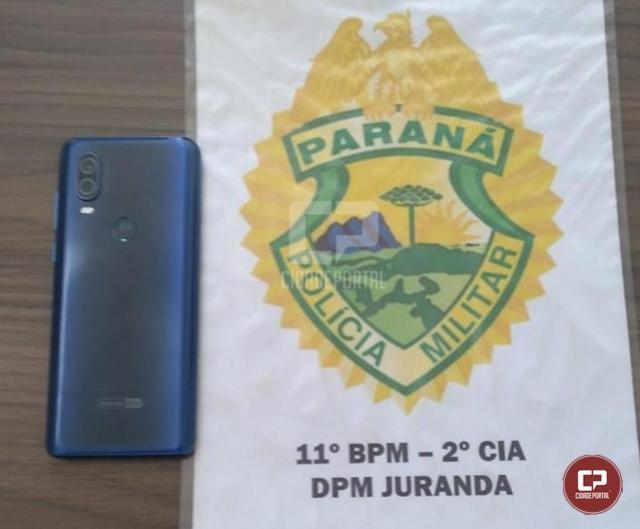 Em ação rápida, Polícia Militar de Juranda recupera celular que havia sido furtado