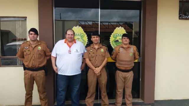 Diretor de Tecnologia do Cidade Portal é recebido pelo Comandante da 2ªCIA 11ºBPM em Ubiratã