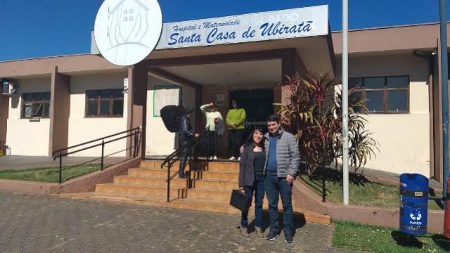 Cidadão honorário de Ubiratã, Dr. Ferdinando visita Hospital Santa Casa