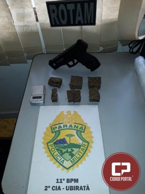 Polícia Militar de Ubiratã encaminha uma pessoa para delegacia por tráfico de drogas