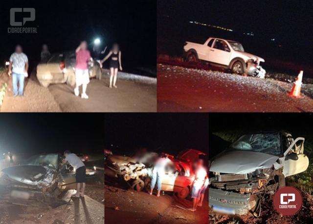 Duas pessoas sofrem ferimentos em grave acidente entre Ubiratã e Yolanda