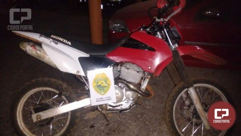 Polícia Militar de Nova Cantu com apoio de Roncador recuperam veículo uma moto e produtos de furto