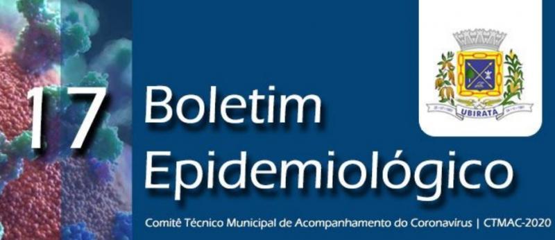 Secretaria de Saúde divulga 17º Boletim Epidemiológico com informações sobre o Coronavírus em Ubiratã
