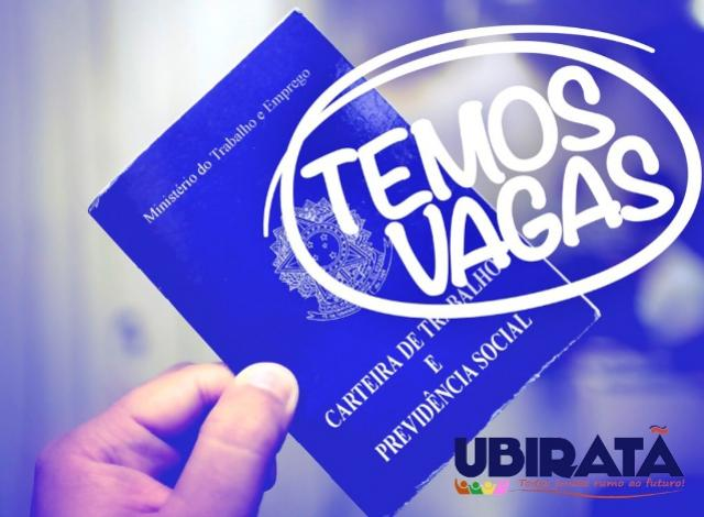 Agência do Trabalhador informa vagas de emprego disponíveis em Ubiratã