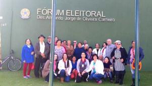 Grupo de Idoso do Serviço de Convivência fizeram o recadastramento biométrico em Ubiratã
