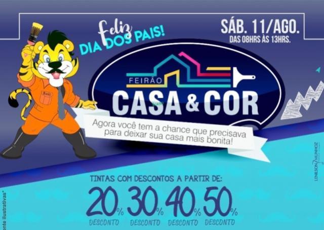 Neste sábado, 11, Feirão Casa e Cor na Tigrão Tintas com descontos de até 50% aproveite