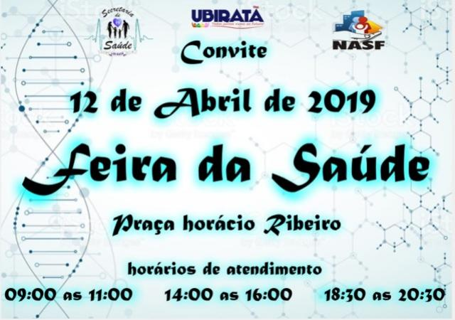 Feira da Saúde acontece nesta sexta em Ubiratã