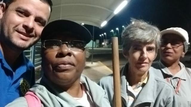 Margaridas: profissionais dedicadas à limpeza pública da cidade de Ubiratã