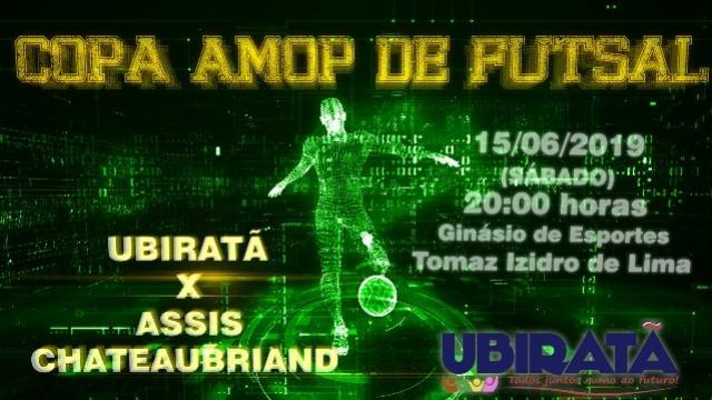 Ubiratã joga com Assis Chateaubriand neste sábado, 15 pela Copa Amop de Futsal