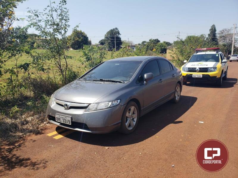 Policia Militar de Corbélia, recupera um dos veiculos tomado por roubo na madrugada em Ubiratã
