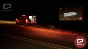 Uma pessoa perde a vida entreCampina da Lagoa e Nova Cantu, motorista fugiu sem prestar socorro