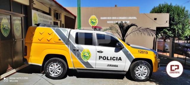 Polícia Militar de Juranda cumpre mandado de prisão no Distrito de Rio Verde