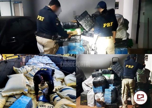 PRF apreende 2,7 toneladas de maconha em Ubiratã