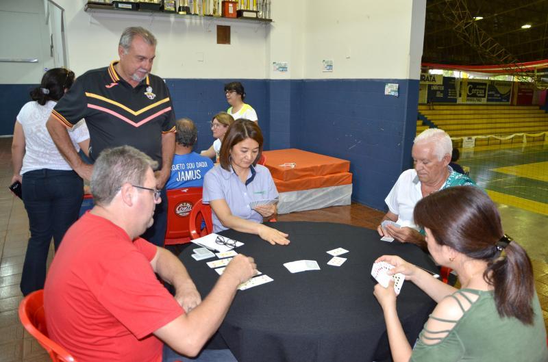 Jogo de cartas tranca também foi um dos atrativos do JAMUs 2018