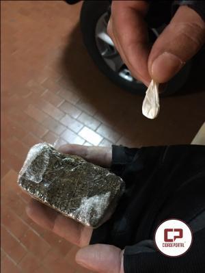 Polícia Militar do destacamento de Boa Esperança prende uma pessoa suspeita de vender drogas  na cidade