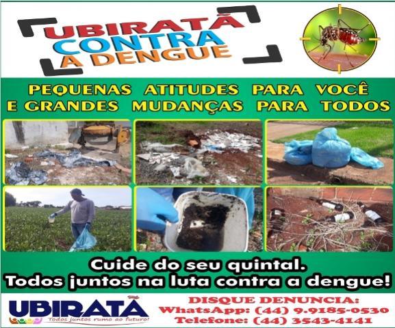 Mais dois casos de dengue foram confirmados em Ubiratã