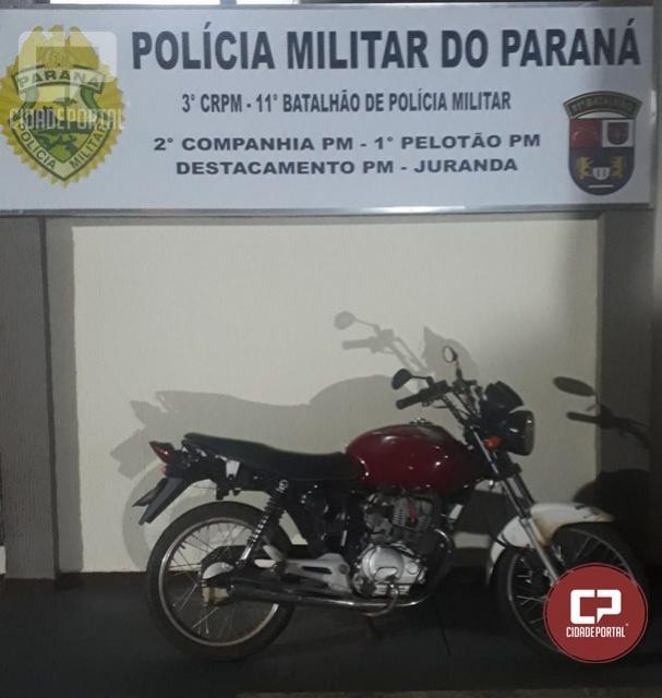 Uma pessoa foi presa por direção perigosa em Rio Verde, distrito de Juranda