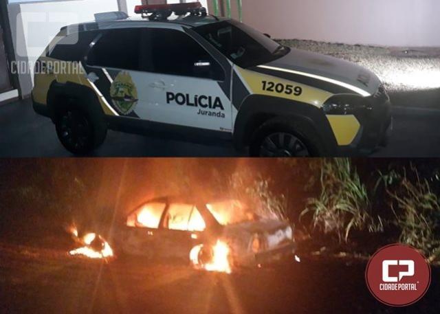 Corpo Carbonizado é encontrado em veículo consumido pelo fogo em Juranda