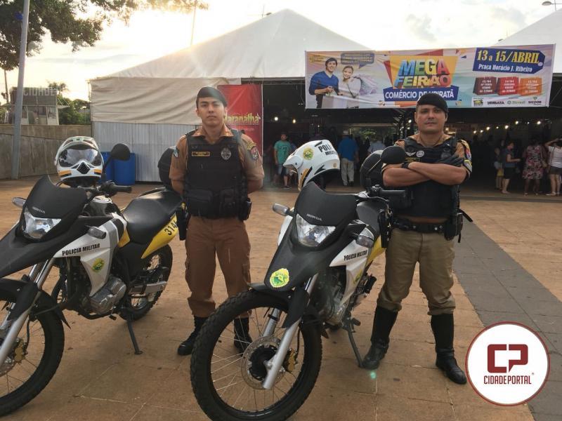 Polícia Militar de Ubiratã iniciou patrulhamento com motos neste fim de semana