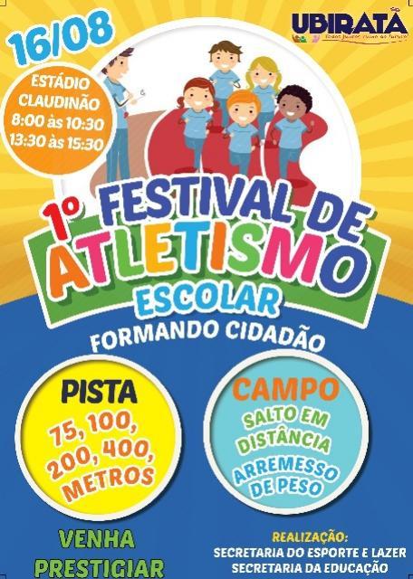 Festival de Atletismo Escolar acontece nesta quinta-feira em Ubiratã