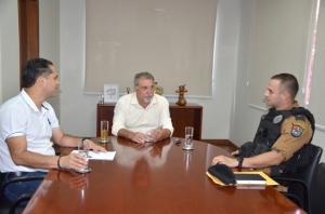 Novo comandante da 2ª Companhia da Polícia Militar de Ubiratã visitou o prefeito Baco