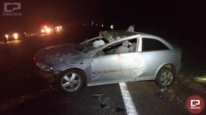 Acidente na BR-369 em Ubiratã deixa duas pessoa com ferimentos graves