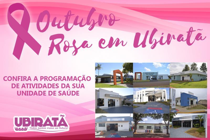 Programação do Outubro Rosa 2018 em Ubiratã