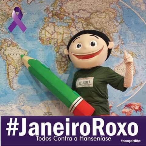 Janeiro ROXO - Campanha Contra a HANSENÍASE