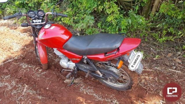 Polícia Militar de Ubiratã recupera motocicleta furtada após denúncia anônima