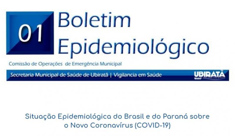 Saúde de Ubiratã divulgou boletim epidemiológico com informações sobre o Coronavírus na cidade