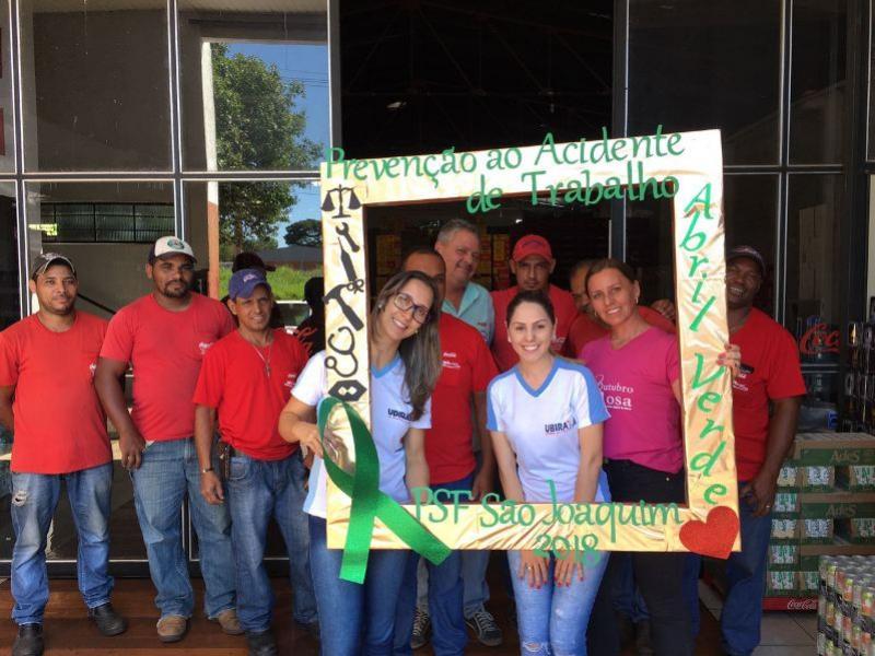 Unidade de Saúde São Joaquim desenvolve ações no Abril Verde - mês de prevenção de acidente de trabalho