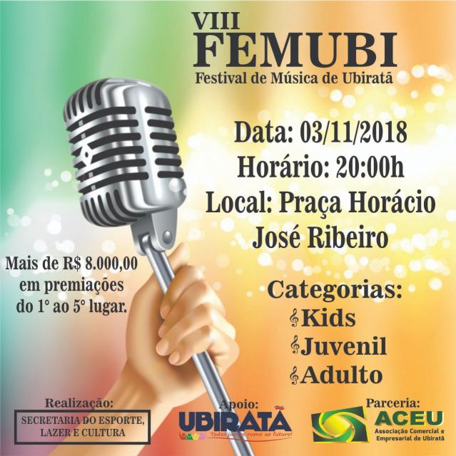 Confira os classificados para a 8ª edição do FEMUBI