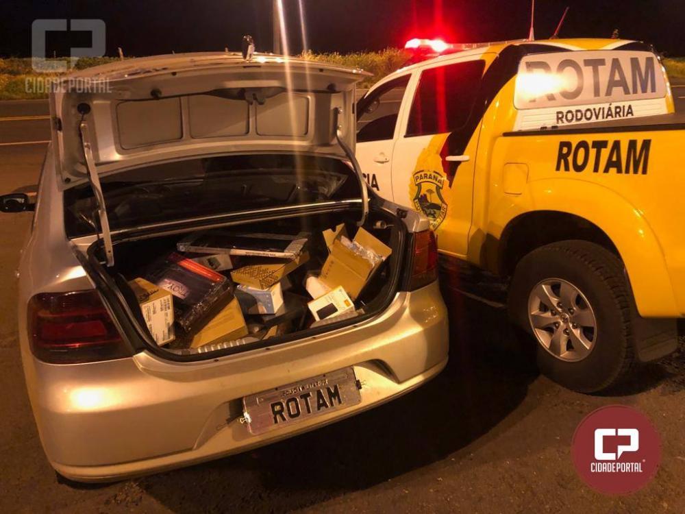 27506abd8fd Rotam da 3ª Cia BPRv da PRE apreende veículo carregado de mercadorias  contrabandeadas em Perobal