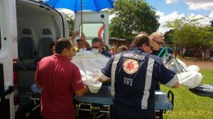 Helicóptero do Samu efetua transferência de paciente de Ubiratã para a cidade de Cascavel