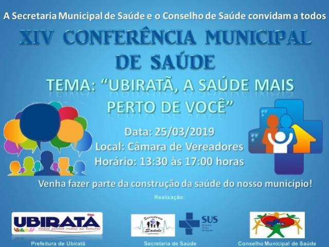 Conferência Municipal de Saúde será realizada dia 25 de março em Ubiratã