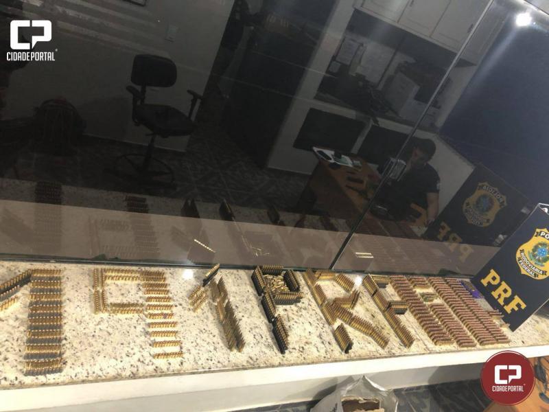 PRF de Ubiratã apreende menor transportando mais de 2 mil munições