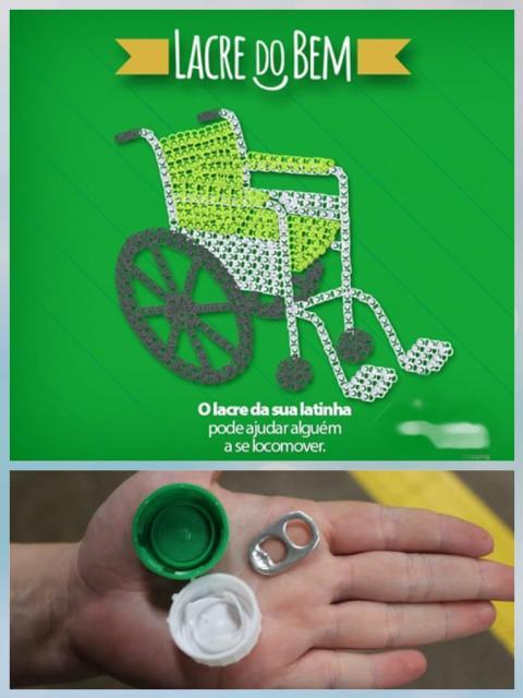CAMPANHA: Lacres e Tampinhas por uma Cadeira de Rodas