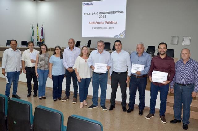 Resultados do 3º Quadrimestre de 2019 foram apresentados em Audiência Pública em Ubiratã
