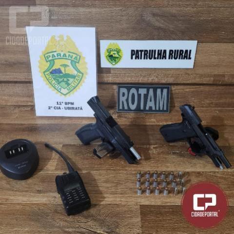 Equipe Policial de Ubiratã cumpre mandado de prisão e apreende armas e munições