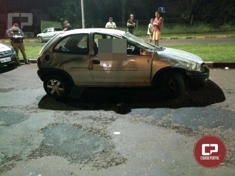 Uma pessoa fica ferida em acidente automobilístico na cidade de Ubiratã