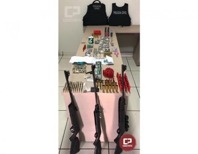 Operação da Polícia Civil fecha loja que realizava venda clandestina de munições em Campina da Lagoa