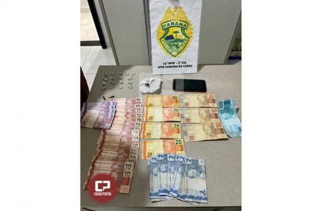 Polícia Militar prende dois e apreende 81 pedras de crack em Campina da Lagoa