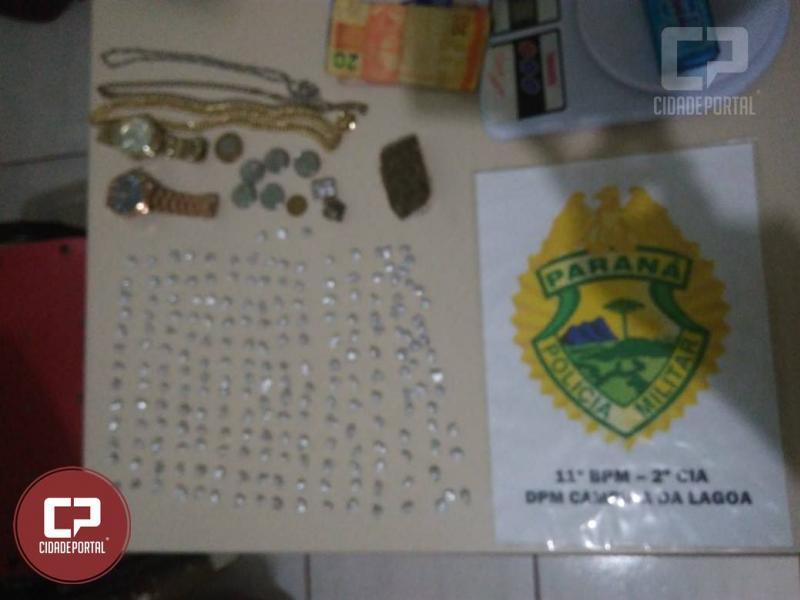 Polícia Militar de Campina da Lagoa prende uma pessoa por tráfico de drogas e corrupção de menores